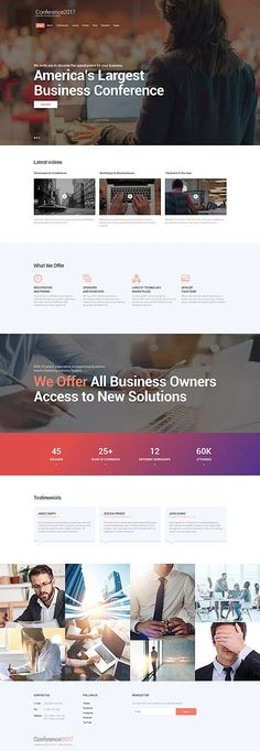 Business website inspirations at your coffee break? Browse for more Bootstrap - Tecnology Web Design, Homepage Design, Design Layouts, Web Layout, Event Landing Page, Technology Posters, Business Technology, Bootstrap Template, Web Development Company