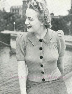 The   Vintage   Pattern   Files: 1940's Knitting - Out-Door Charm