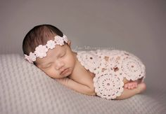 Newborn Baby Blanket,  Pink, Cream, Lace Blanket, Photo Prop on Etsy, $35.00