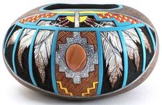 Southwest Design. Carved and Sculptured Gourds Created with Passion by Phyllis Sickles
