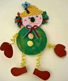 karneval deko selber machen basteln mit kindern The Effective Pictures We Offer You About kids hallo Clown Crafts, Diy And Crafts, Crafts For Kids, Arts And Crafts, Kids Diy, Carnival Activities, Carnival Crafts, Paper Plate Crafts, Paper Plates