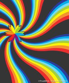 Colorful Bud On Rainbow