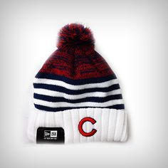 ccc26a0b8c8 Chicago Cubs Snowfall Stripe Knit Hat by New Era