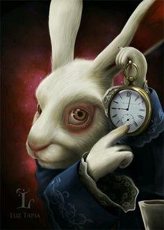 Concept Artist and Illustrator Michael Kutsche has released some new concept art for Tim Burton's Alice in Wonderland