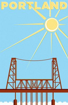 This picture lies. The clouds are missing. Portland Bridges, Still Love Her, My Love, Visual Map, Pub, Most Beautiful Cities, Vintage Travel Posters, Portland Oregon, Summer Fun
