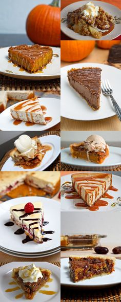 10 Thanksgiving Desserts! I'm always in charge a thanksgiving dessert. Perfect.