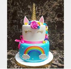 Awesome Birthday Party Ideas for Girls – Unicorn Cake Unicorn Themed Birthday, Rainbow Birthday, Unicorn Rainbow Cake, 5th Birthday, Jojo Siwa Birthday Cake, Diy Unicorn Cake, Unicorn Cake Pops, Rainbow Cakes, Birthday Ideas