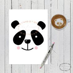 laminas animales infantiles, laminas panda, laminas infantiles, lamina panda, cuadro animales infantiles, cuadro panda, imprimibles niños, oso panda, osito panda, laminas escandinavas, cuadros escandinavos