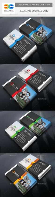 Real Estate Business Card — Photoshop PSD #lease #flat • Available here → https://graphicriver.net/item/real-estate-business-card/17795980?ref=pxcr