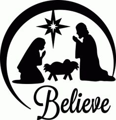 Silhouette Design Store View Design 52457 Believe Nativity Christmas Vinyl, Christmas Nativity, Christmas Projects, Xmas, Nativity Church, Christmas Clipart, Christmas Bells, Silhouette Cameo Projects, Silhouette Design