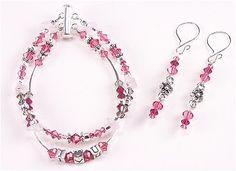 Jewelry Making Idea: I Love You Bracelet and Earrings (eebeads.com)