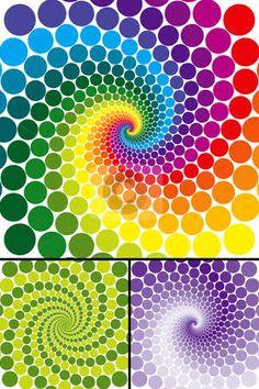 rainbow spiral - Google Search