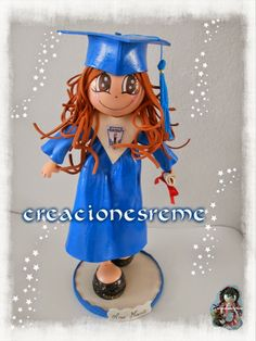 Muñequitas de goma eva Creacionesreme Muñequitas de goma eva Creacionesreme fofucha graduada #fofucha