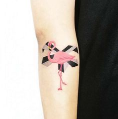 Flamingo Forearm Tattoo by IDA
