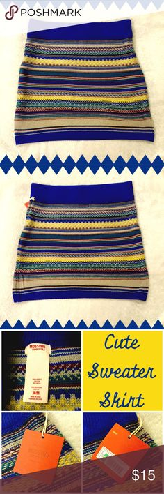 🍂🍁 Mossimo Sweater Skirt 🍁🍂 Such a great look for Fall! Mossimo sweater skirt, NWT, size medium. Mossimo Supply Co Skirts Mini