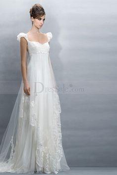 Ravishing Empire Wedding Dresses with Capped Sleeve