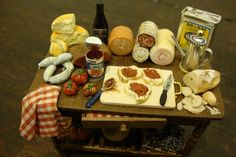 table set up we prepare the bruschetta by bagusitalyminiatures
