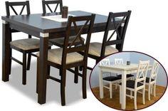 Stół rozkładany i krzesła zestaw kuchnia TANIO