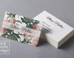 Diseño de tarjeta de visita floral, flores tarjeta de visita plantillas para imprimir tarjetas de visita diseño acuarela tarjeta de visita, blanco rosa año de cosecha