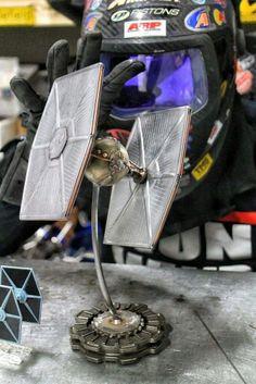 Starwars tyefighter star wars metalart cold hard art