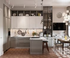 Kitchen Sets, Kitchen Living, New Kitchen, Kitchen Island, Kitchen Interior, Kitchen Decor, Kitchen Design, House Under Construction, Small Living Rooms