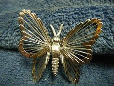 Art Deco Monet Wire Butterfly Pin Brooch | eBay