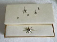 Vintage Mid Century 1950s Atomic Starburst Babcock Jewelry Box