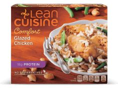 All Frozen Meals from Lean Cuisine Sauce For Chicken, Glazed Chicken, Real Food Recipes, Chicken Recipes, Space Food, Lean Cuisine, Frozen Meals, Copycat Recipes, Banquet Meals
