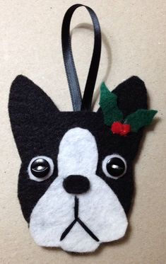 Image result for boston terrier felt ornament pattern