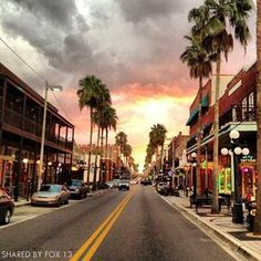 Ybor City, Tampa... these skies, this light...I miss them so.