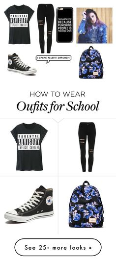 """""""school worthy.defiinietly would wear this"""" by robin-987 on Polyvore featuring WithChic, Converse, Casetify and Mr.ace Homme"""