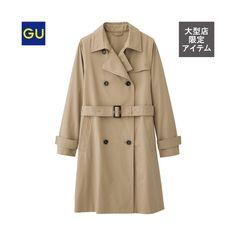 (GU)トレンチコート  オンラインストア・大型店商品  ¥3,990 +消費税  商品番号:281176