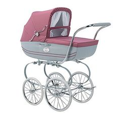 Inglesina Classic Bassinet Body 2006 Rosa Antico - Inglesina Carriages