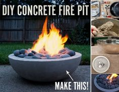 Practical Ideas: DIY Concrete Fire Pit From Scratch - Find Fun Art Projects to Do at Home and Arts and Crafts Ideas