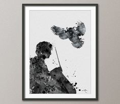 Harry Potter Watercolor illustrations Art Print  8x10 by CocoMilla, $16.61AUD