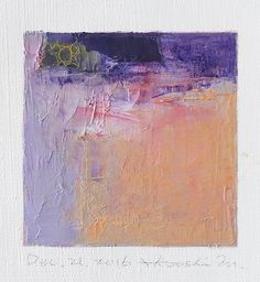 Hiroshi Matsumoto Dec. 21, 2016 - Original Abstract Oil Painting - 9x9 painting (9 x 9 cm - app. 4 x 4 inch) with 8 x 10 inch mat