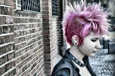 The lighting, makeup and styling is designed to show the model in the most attr. Undercut Hairstyles, Funky Hairstyles, Mohawk Styles, Short Hair Styles, Alternative Hair, Alternative Fashion, Hair Today Gone Tomorrow, Hair Straightening Iron, Edgy Hair