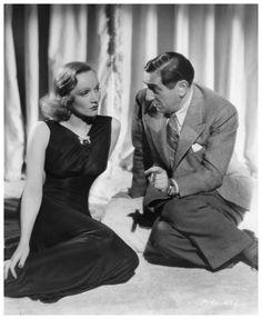 Marlene Dietrich and Ernst Lubritsch on Set of Angel 1937