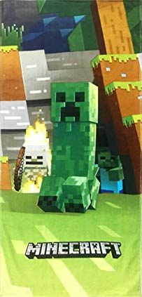 Buy Jay Franco Minecraft Mobs Emerge Super Soft & Absorbent Kids Bath/Pool/Beach Towel, Featuring Creeper - Fade Resistant Cotton Terry Towel, Measures 28 inch x 58 inch (Official Minecraft Product) Nintendo Party, 150 Pokemon, Create Your Own World, Minecraft Mobs, Dry Desert, Minecraft Christmas, Child Smile, Terry Towel, Biomes