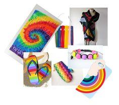 """Rainbow"" by galafilc on Polyvore featuring moda, Sara Battaglia, Shamballa Jewels i Miss Selfridge"