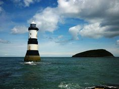 Penmon Lighthouse and Puffin Island in Wales