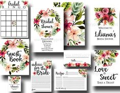 Digital Bridal Shower Printable Bundle Invitation Advice