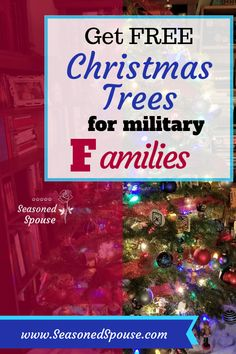 Free Christmas trees for military families ~ Seasoned Spouse Military Deployment, Military Spouse, Military Veterans, Military Life, Veterans Discounts, Military Discounts, Deployment Care Packages, Army Girlfriend, Military Families