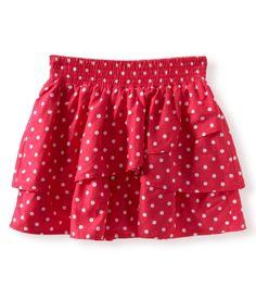 Polka Dot Woven Skirt by Aeropostale  Pretty && Pink !
