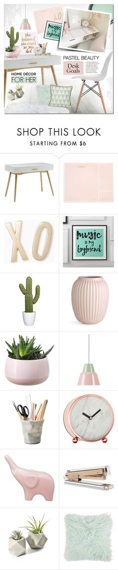 """Pastel Beauty"" by justlovedesign ❤ liked on Polyvore featuring interior, interiors, interior design, home, home decor, interior decorating, Benjamin Moore, Convenience Concepts, Sugar Paper and Kate Spade"