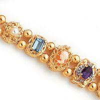 14k Gold 10 Peice Victorian Slide Bracelet selling for $2,200.
