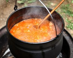 Practical Winter Campfire Cooking Ideas For Outdoor Cooking Fire Cooking, Outdoor Cooking, Hobo Stew, One Pot Meals, Easy Meals, Chowder Soup, Goulash, Camping Meals, Camping Cooking