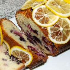 meyer lemon & blueberry ricotta cake