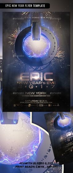 Epic New Year Flyer Template PSD. Download here: https://graphicriver.net/item/epic-new-year-flyer-template-v3/17435733?ref=ksioks