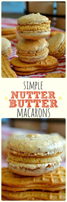 These Nutter Butter Macarons combine the classic all-American cookie with the elegant French macaron in this EASY recipe! You won't believe how simple it is to make authentic macarons at home that taste like Nutter Butters!